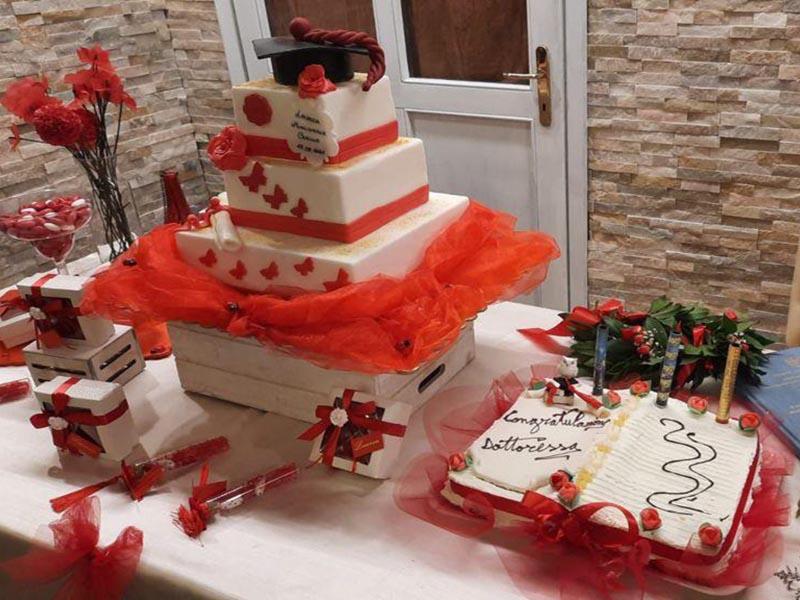 torta festa di laurea